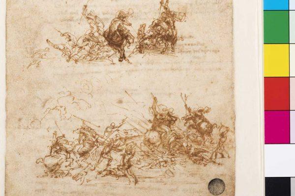 Leonardo-da-Vinci,-Studio-per-la-Battagli-di-Anghiari,-Gallerie-dell'Accademia-inv