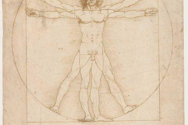 Leonardo-da-Vinci,-Uomo-Vitruviano,-Gallerie-dell'Accademia-inv